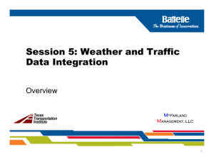 Session 5.1 TMC Weather Integration and Self
