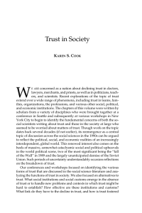 Trust in Society - Russell Sage Foundation
