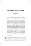 The Breath of the Possible