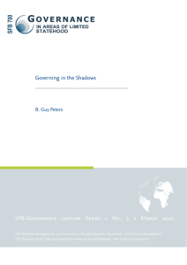 Governing in the Shadows SFB-Governance Lecture