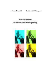 Richard Stone: an Annotated Bibliography