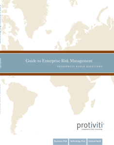 Guide to Enterprise Risk Management FAQ