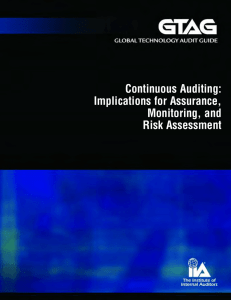 Continuous Auditing: Implications for Assurance, Monitoring, and