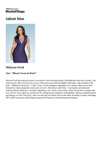 talent bios Melyssa Ford