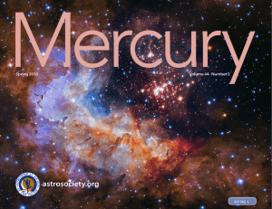Spring 2015 Mercury - Astronomical Society of the Pacific