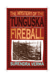 the mystery of the tunguska fireball