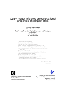 Quark matter influence on observational - Instituut