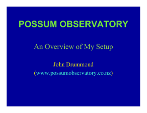 possum observatory - The Ohio State University