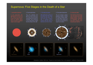 Supernova: Five Stages in the Death of a Star