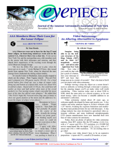 November 2015 Eyepiece - Amateur Astronomers Association of