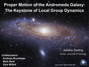 Proper Motion of the Andromeda Galaxy