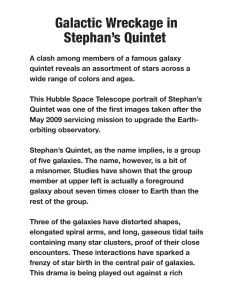Galactic Wreckage in Stephan`s Quintet.