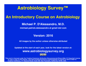 Astrobiology - Anatomy Atlases