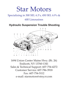 Hydraulic Suspension Trouble Shooting Guide