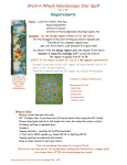 Stack-n-Whack Kaleidoscope Star Quilt Requirements