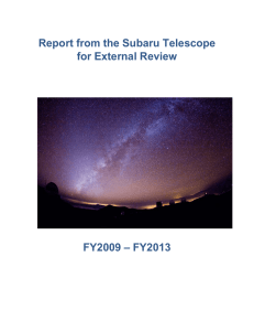 Report from the Subaru Telescope for External