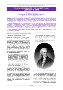 WILLIAM HERSCHEL AND THE `GARNET` STARS: μ CEPHEI AND