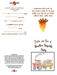 Hayride and Bonfire Party Invitation