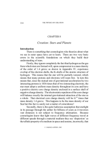 Creation: Stars and Planets