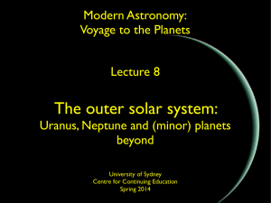 The outer solar system: