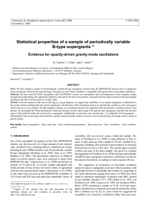 Statistical properties of a sample of periodically variable B-type supergiants ⋆