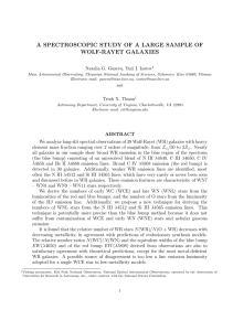 A SPECTROSCOPIC STUDY OF A LARGE SAMPLE OF WOLF-RAYET GALAXIES