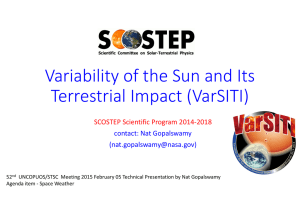 Variability of the Sun and Its Terrestrial Impact (VarSITI)
