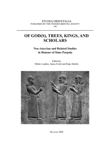 Of GOd(s), Trees, KinGs, and schOlars