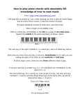 How to play piano chords with absolutely NO knowledge of how to