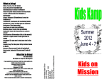Kids on Mission - Arrow Heights Baptist Church