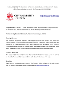 - City Research Online