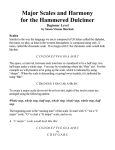 Major Scales and Harmony for the Hammered Dulcimer
