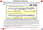 Babbitt`s Theorem - Theorem of the Day