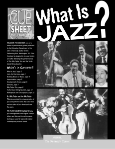 What`s in Cuesheet? - Wenatchee Jazz Workshop