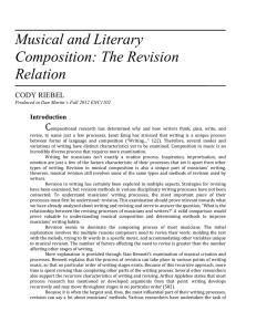 Musical and Literary Composition: The Revision Relation