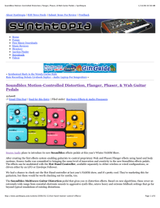 Soundblox Motion-Controlled Distortion, Flanger
