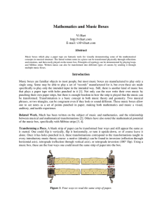 Mathematics and Music Boxes