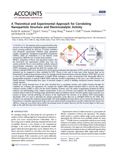 A Theoretical and Experimental Approach for Correlating