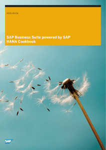 SAP Business Suite powered by SAP HANA Cookbook
