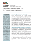 White Paper: Overcoming the Limitations of J2EE for Financial
