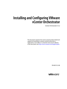 Installing and Configuring VMware vCenter Orchestrator