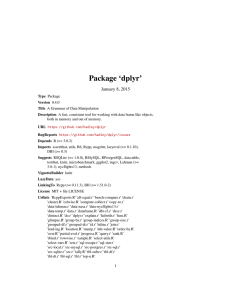 Package 'dplyr'