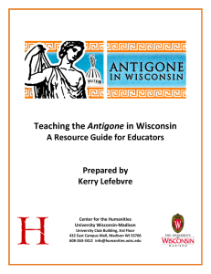 Teaching the Antigone in Wisconsin