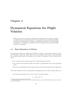 Dynamical Equations for Flight Vehicles
