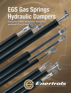 Gas Springs and Hydraulic Damper Catalog