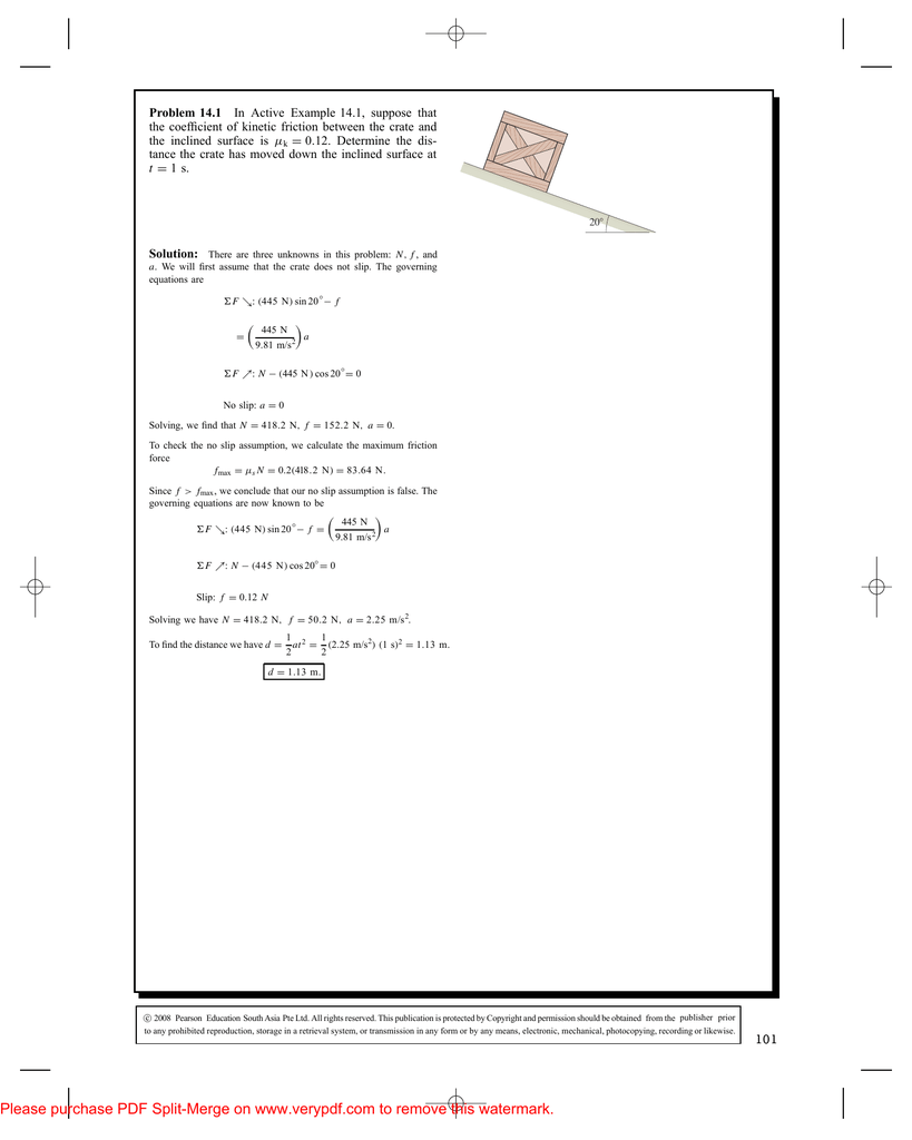 Problem 14 1 In Active Example 14 1 Suppose