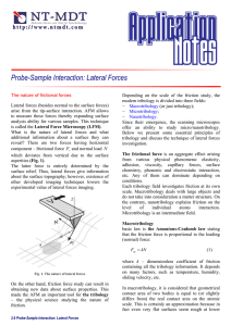 Probe-Sample Interaction: Lateral Forces h t p