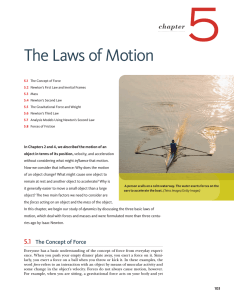 5 The Laws of Motion chapter