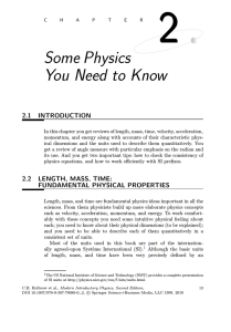 Some Physics You Need to Know