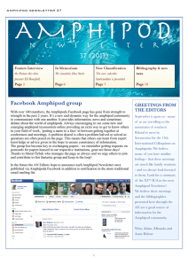 Amphipod Newsletter 37 (2013) - World Register of Marine Species
